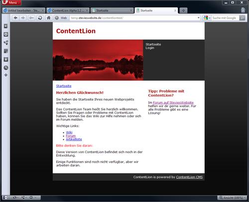 Startseite ContentLion Alpha 1.2